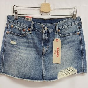 Levi's Denim Distressed Jean Skirt 29